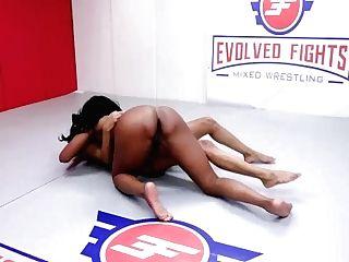 'naked Women Grappling As Mocha Menage Battles September Reign Where The Winner Fucks Loser'