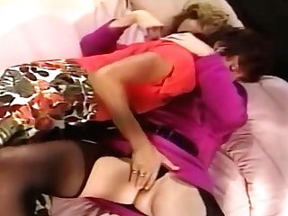 Melanie Moore And Sharon Mitchell Have Girly-girl Tonguing Hook-up