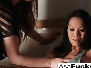 Asa Akira   Dani Daniels In Dani Daniels Captures Asa Then Bangs Her - Asaakira