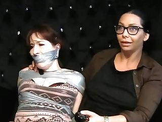 Woman Taped Up By Another Woman