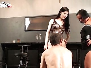 Dirty Black-haired Whores Have Lovemaking With Matures Deviant Dude
