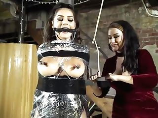 Fem Dom Movie With To Buxomy Brunettes - Tying And Penalty