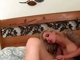 Blonde Lezzie Cougar Sharing Massive Faux-cock