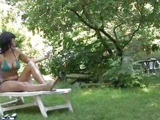 Huge-boobed Mommy Playing Her Youthfull Fuckbox