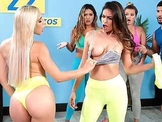 Working Out Their Anger Free Flick With Abella Danger - Brazzers