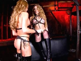 Lesbo Domination Session With Kagney Linn Karter And Amy Brooke