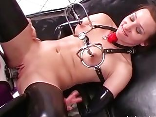 Lady Bijou & Hally In Raven - Sweet Disobedient Sub In Sexual Denial - Kink