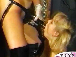 Girl-on-girl Strap On Dildo Fucks Bum