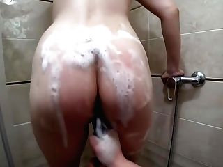 Woman Washes In The Bathroom And Fucks Prego Gf Cougar