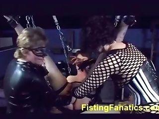 Antique Female Domination - Girl/girl Mistresses Triple Fist-fucking Slavegirl